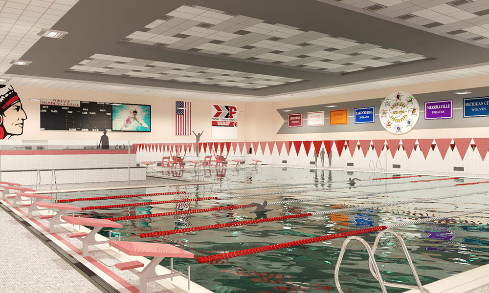 Portage High School East Pool